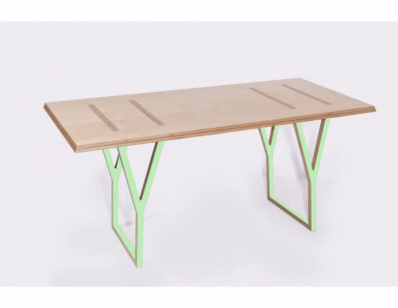 scrivania rettangolare in multistrato y scrivania malherbe edition. Black Bedroom Furniture Sets. Home Design Ideas