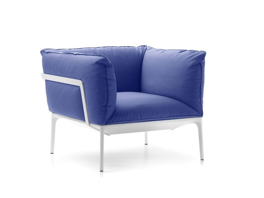Upholstered fabric armchair with armrests YALE | Armchair - MDF Italia
