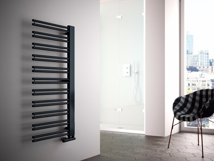 Hot-water carbon steel towel warmer YARA - CORDIVARI