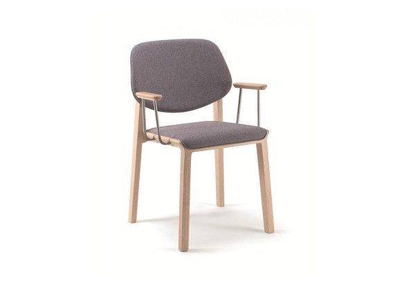 Stackable fabric chair with armrests YARD | Chair with armrests - CIZETA