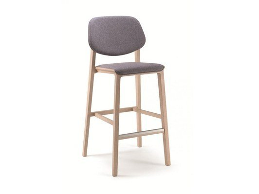 Wooden counter stool with footrest YARD | Counter stool - CIZETA