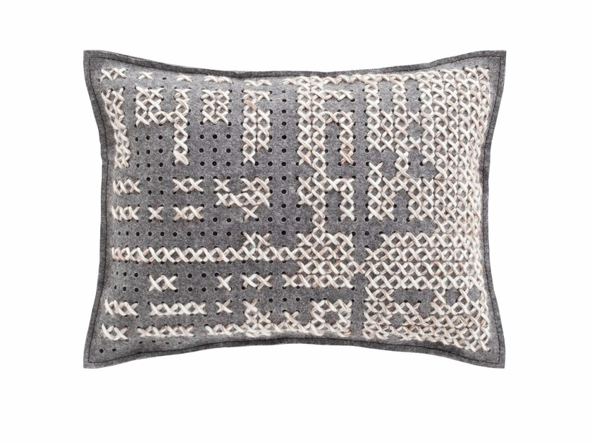Rectangular wool cushion CANEVAS | Rectangular cushion - GAN By Gandia Blasco