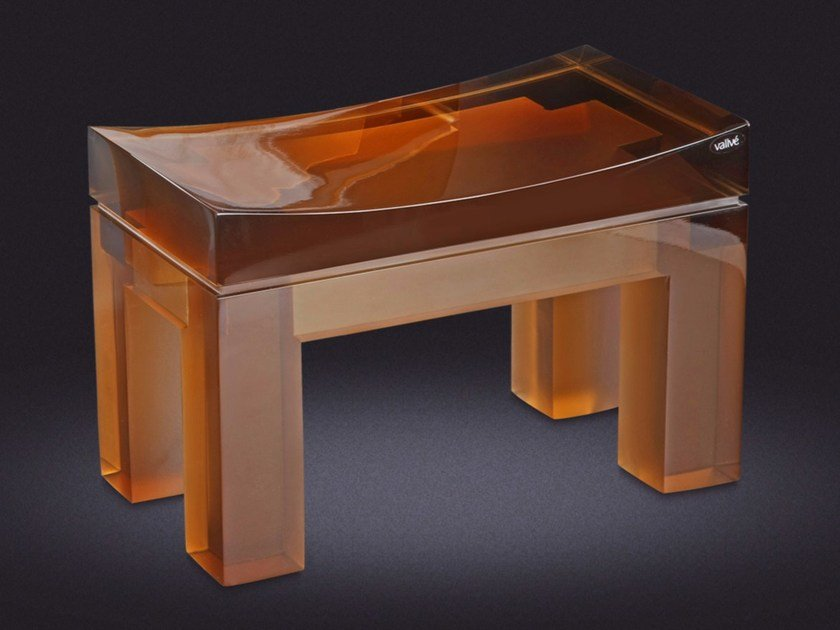 Resin bathroom stool YES SMALL | Bathroom stool - Vallvé Bathroom Boutique