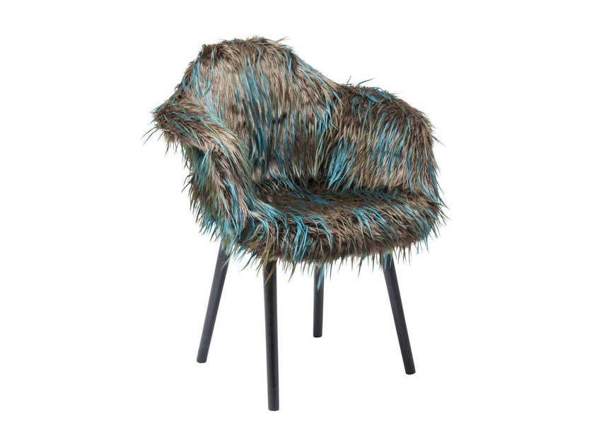 Easy chair with armrests YETI FUR - KARE-DESIGN