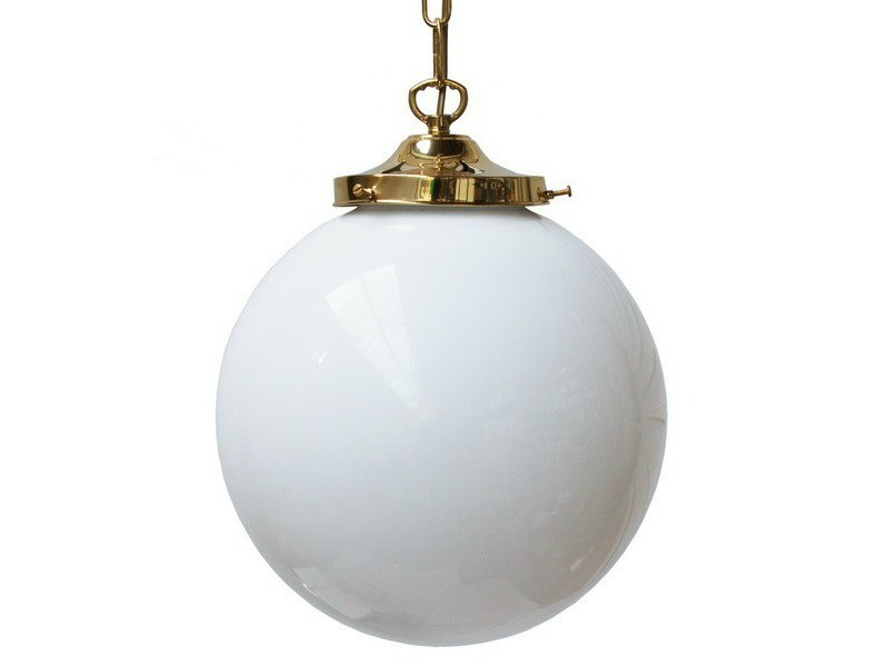 Direct light handmade pendant lamp YEVERAN GLOBE PENDANT LIGHT 250mm - Mullan Lighting