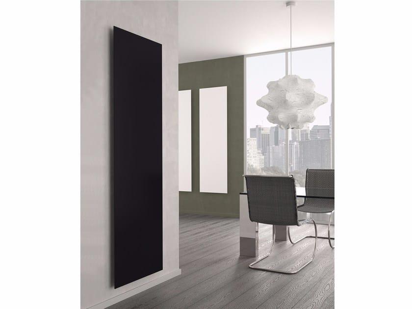 Vertical aluminium panel radiator YIN by K8 Radiatori