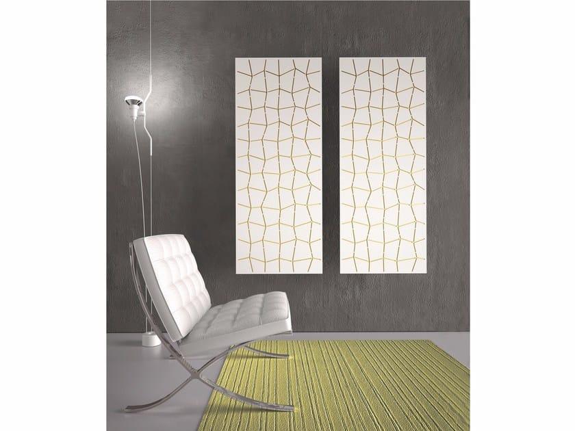Termoarredo verticale a parete yin trama by k8 radiatori - Termoarredo verticale ...