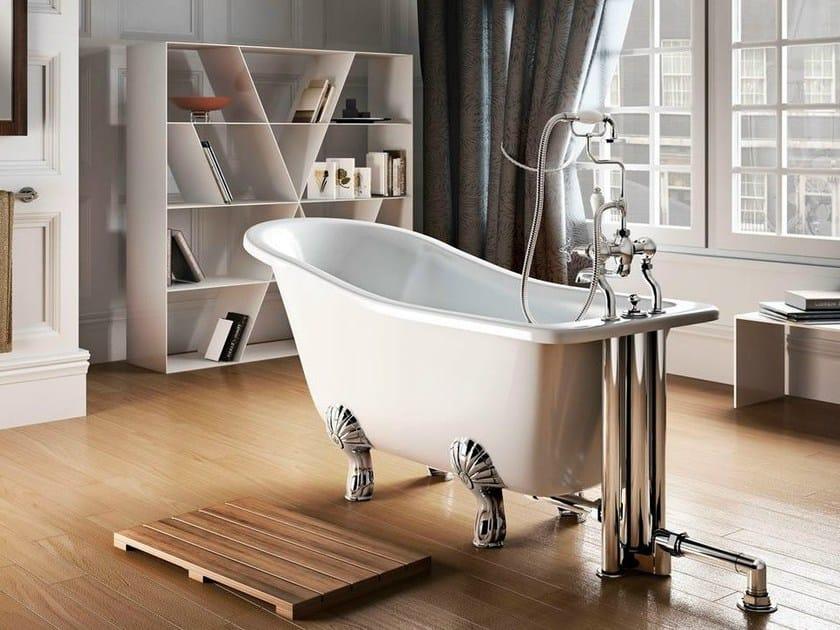 Oval bathtub on legs YORK SLIPPER 1500 by Polo