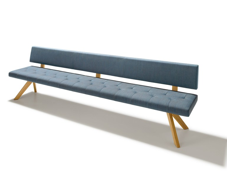 Upholstered fabric bench with back YPS | Bench with back - TEAM 7 Natürlich Wohnen