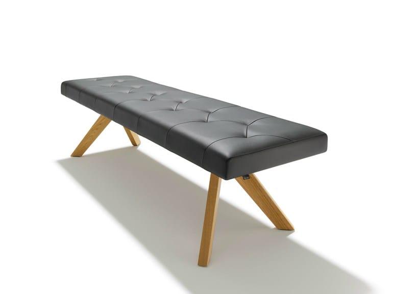 Upholstered leather bench YPS | Leather bench - TEAM 7 Natürlich Wohnen