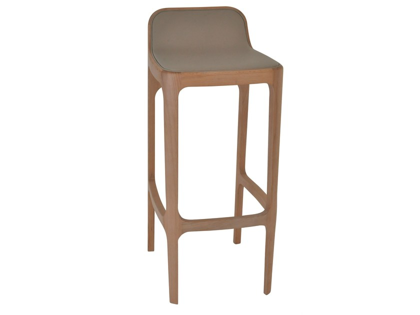 Wooden stool YUME | Stool by Perrouin