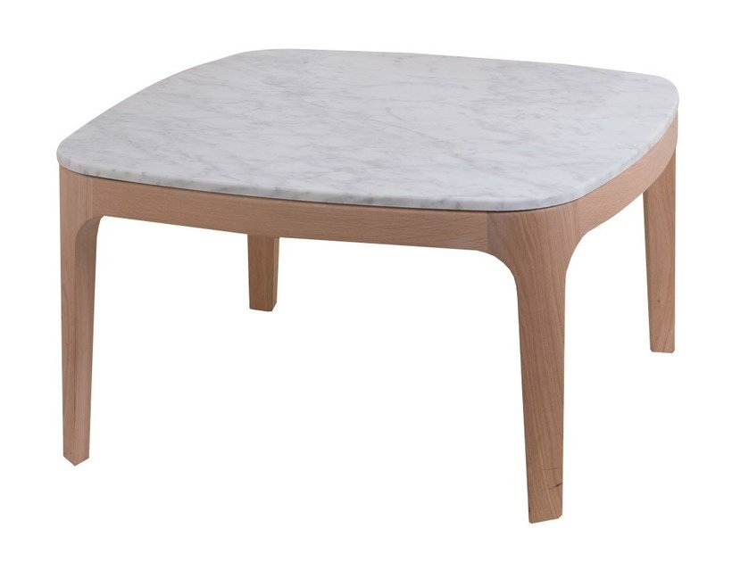 Square marble coffee table YUME | Coffee table - PERROUIN SIEGES