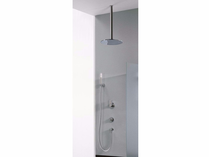 Built-in shower panel with overhead shower Z-POINT | Built-in shower panel - ZAZZERI