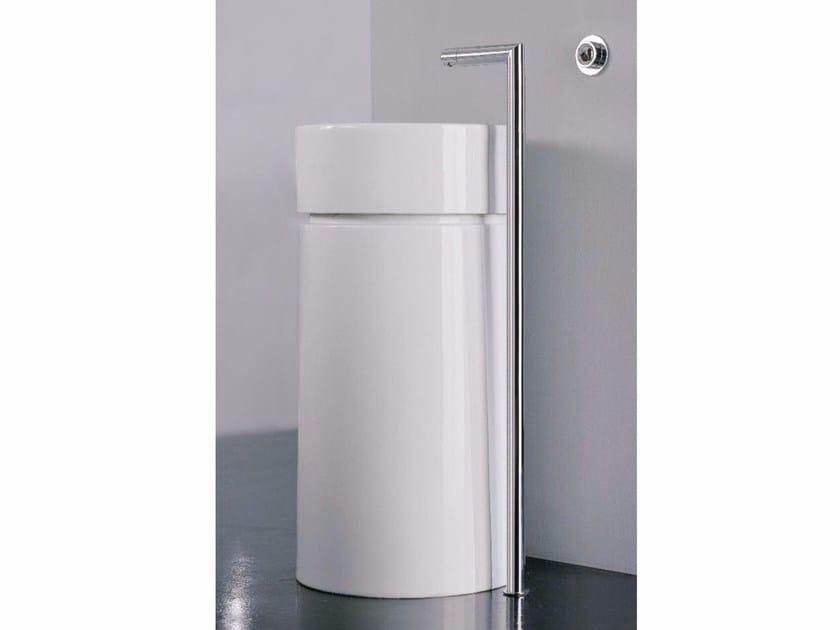 Floor standing single handle washbasin mixer Z-POINT | Floor standing washbasin mixer - ZAZZERI