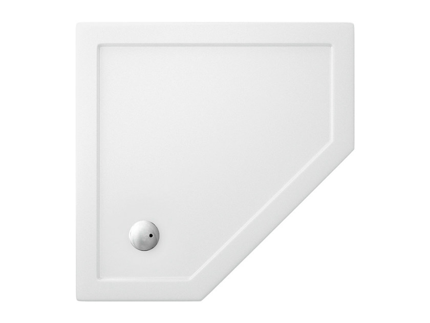 Corner acrylic shower tray T-FORMAT | Corner shower tray - Polo