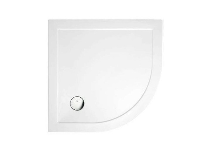 Corner composite material shower tray T-PRESSED | Corner shower tray by Polo