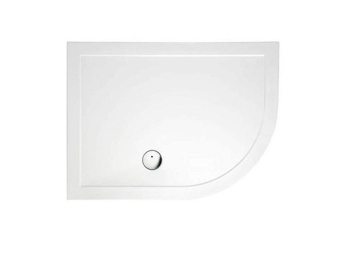 Corner composite material shower tray T-PRESSED | Corner shower tray - Polo