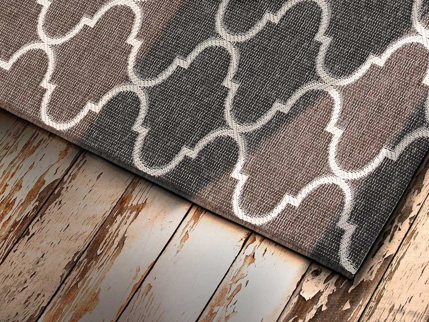 Rectangular outdoor rugs with geometric shapes ZAG - ITALY DREAM DESIGN - Kallisté
