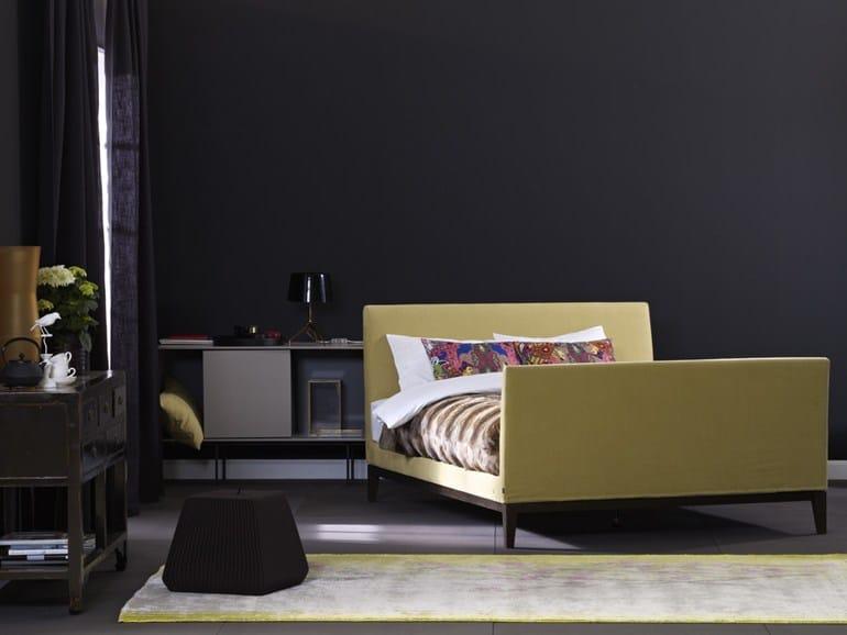 Upholstered bed with high headboard ZARA 1 - Schramm Werkstätten