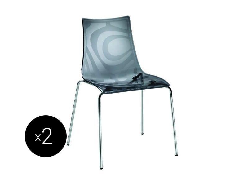 Ergonomic stackable chair ZEBRA | Stackable chair - SCAB DESIGN
