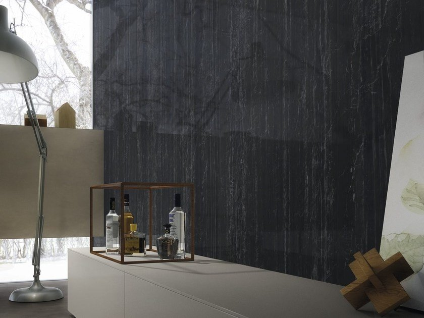Wall/floor tiles with marble effect ULTRA MARMI | Zebrino black - ARIOSTEA