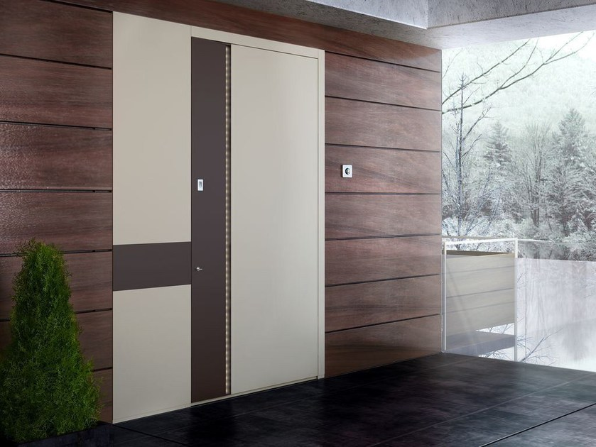 Flush-fitting entry door with concealed hinges ZEN BASE - Interno Doors