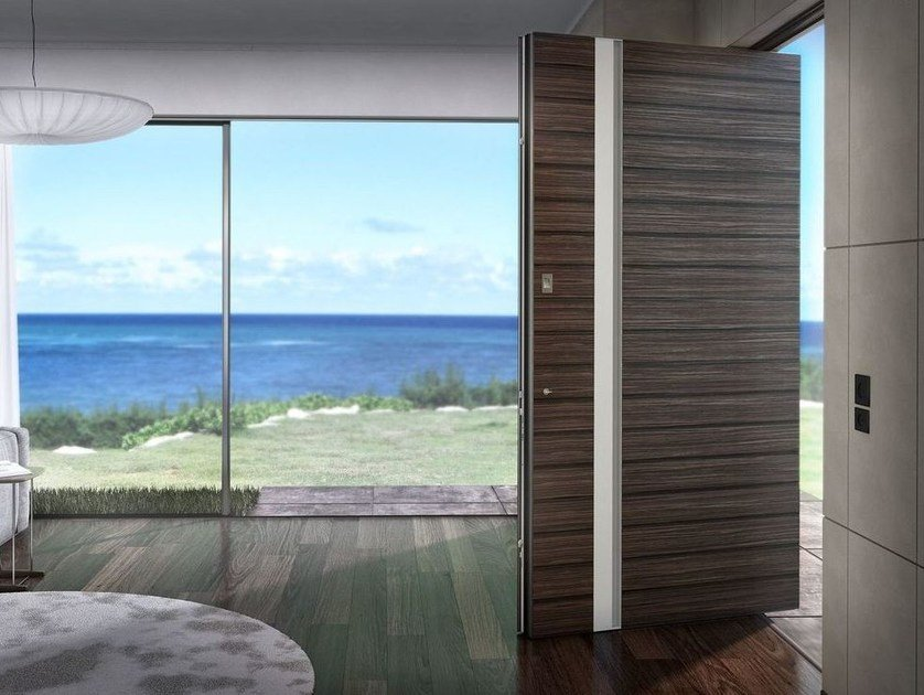 Porta d'ingresso blindata con serratura elettronica ZEN PIVOT WOOD - Interno Doors