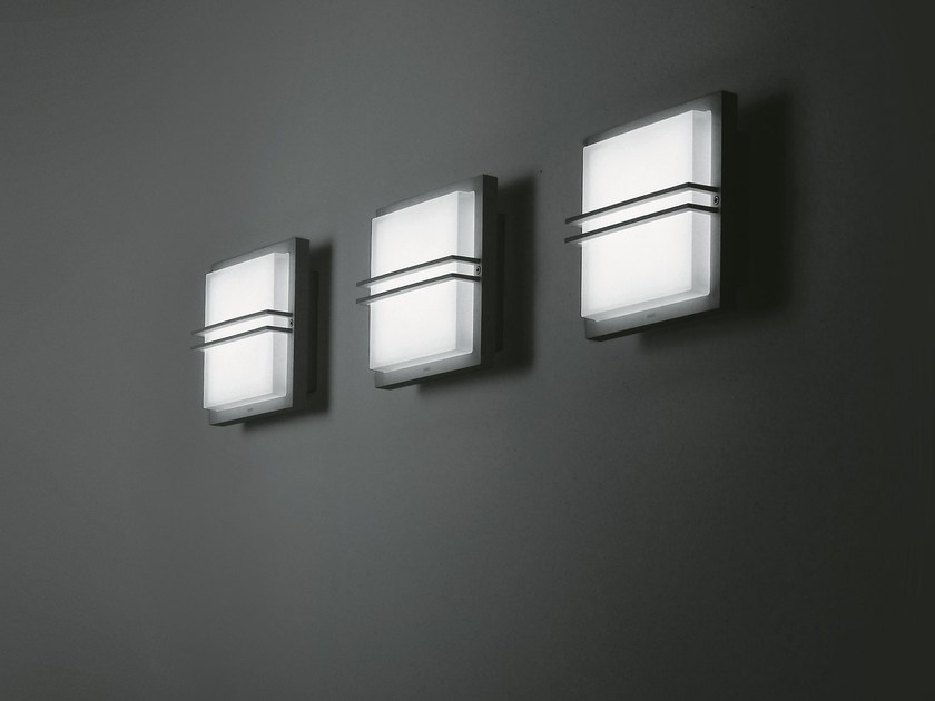 LED sandblasted glass wall light ZEN by SIMES