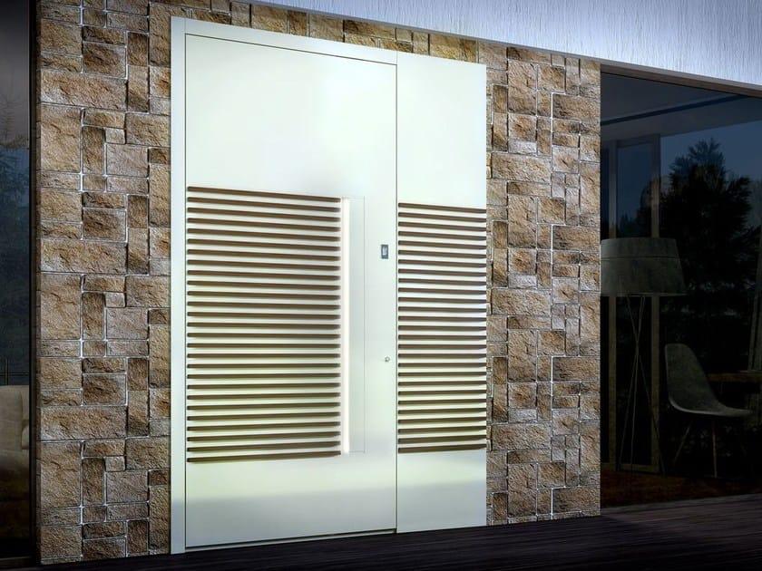 Aluminium and wood entry door ZEN WOOD - Interno Doors