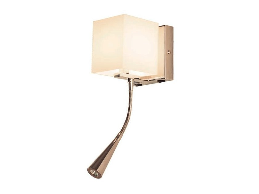 LED opal glass wall lamp with swing arm ZEN LED - Aromas del Campo