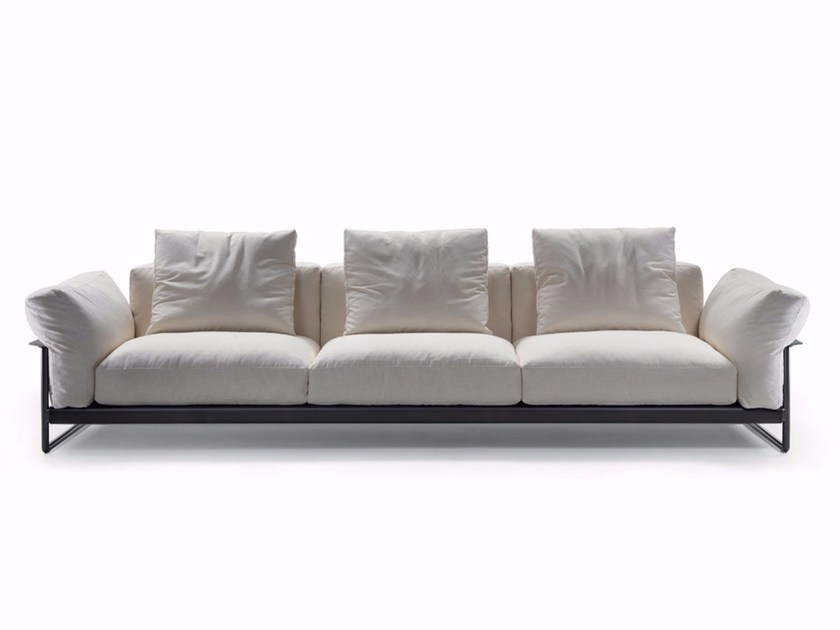 3 seater fabric sofa with removable cover ZENO LIGHT 2016 - FLEXFORM