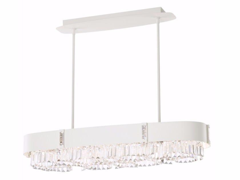 Pendant lamp with Swarovski® Crystals ZEPPA | Metal pendant lamp by Schonbek