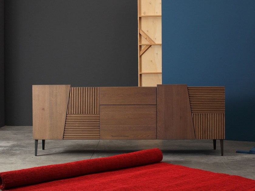 Solid wood sideboard with doors ZERO.16 | Solid wood sideboard - Devina Nais
