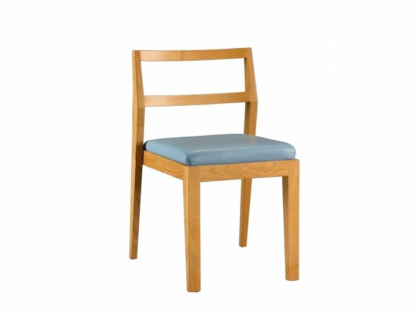Stackable cherry wood chair ZERO | Chair - Morelato