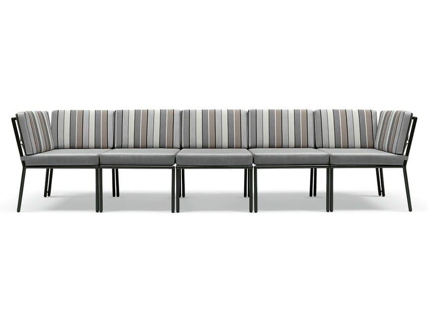 Sectional synthetic fibre sofa Zero by Metalmobil
