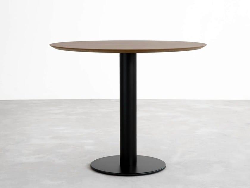 Round wooden table ZERO | Wooden table - STUA