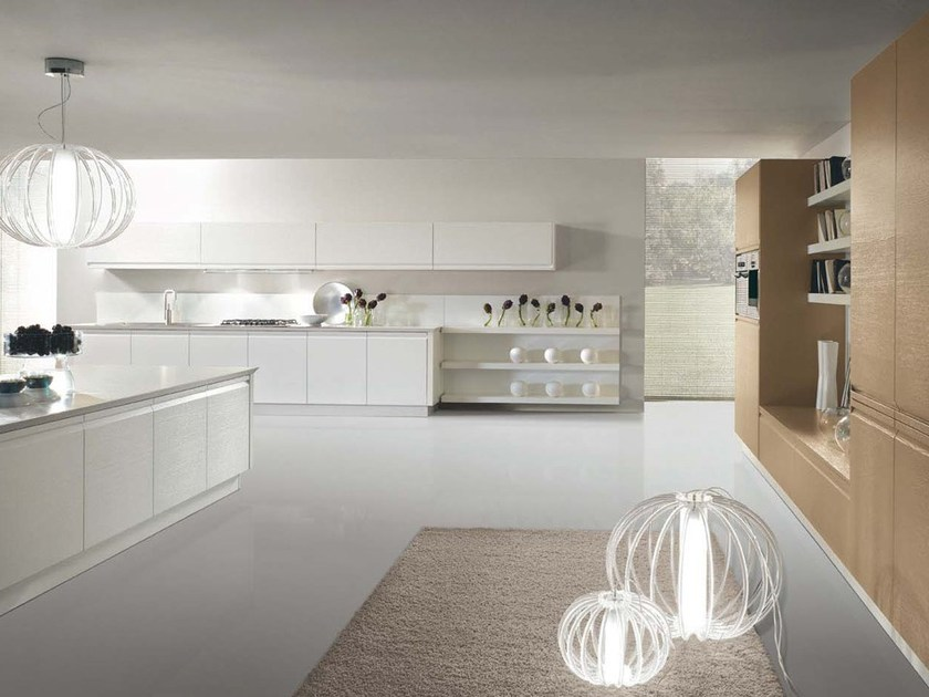 Lacquered kitchen with integrated handles ZEROCINQUE - DIBIESSE