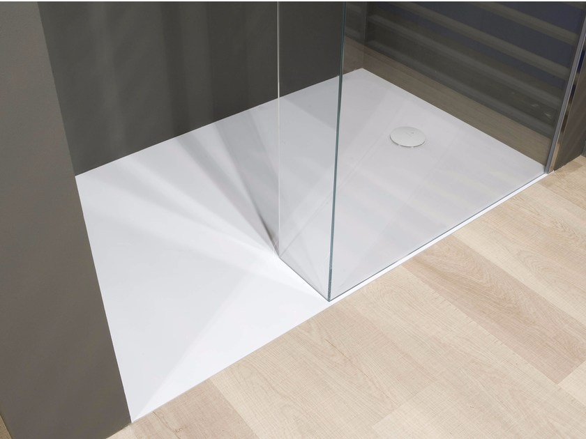 Rectangular Ceramilux® shower tray ZEROLUX - Antonio Lupi Design®