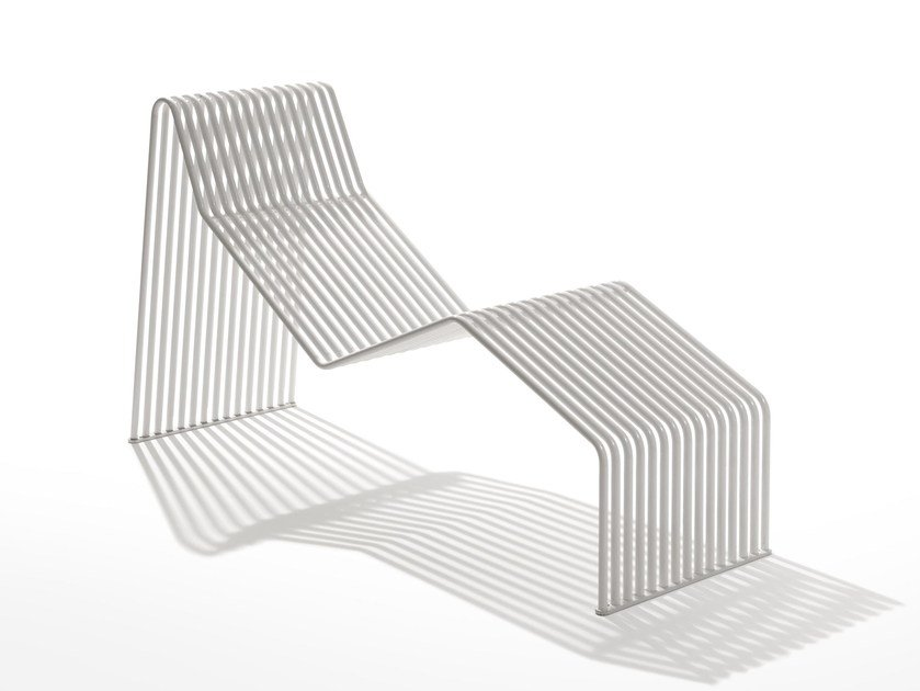 Galvanized steel lounge chair ZEROQUINDICI.015 | Steel lounge chair by Diemmebi