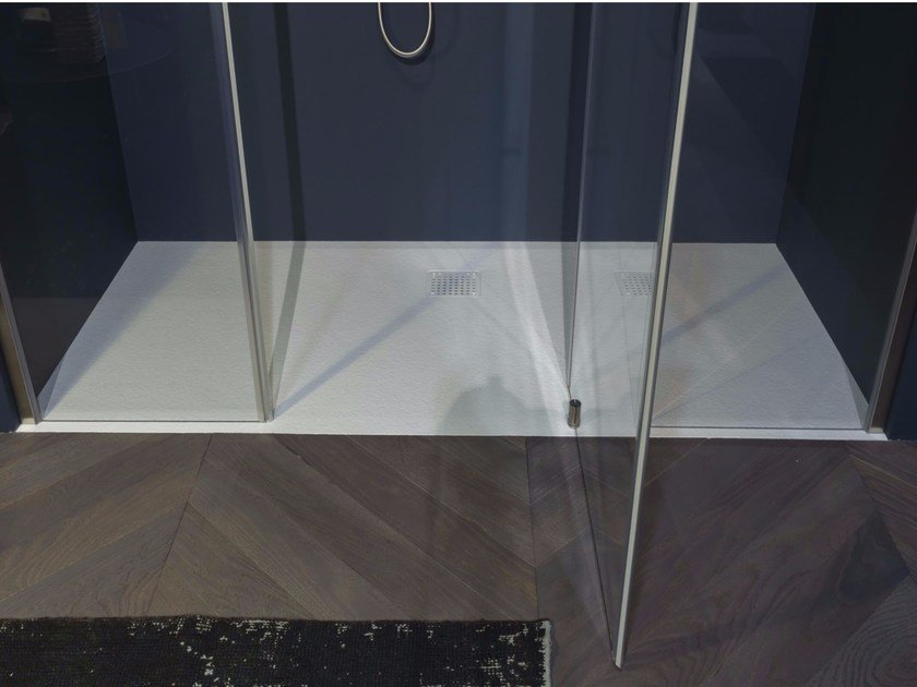Flush fitting built-in Ceramilux® shower tray ZEROSTONE - Antonio Lupi Design®