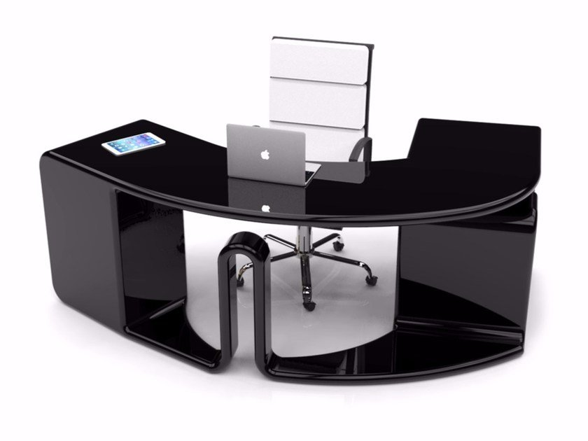 Lacquered Adamantx® office desk with drawers ZETYA - ZAD ITALY