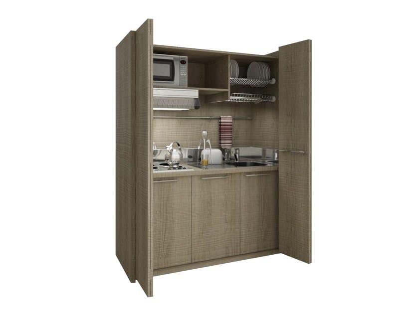 Hideaway wooden Mini Kitchen ZEUS K110 by Mobilspazio