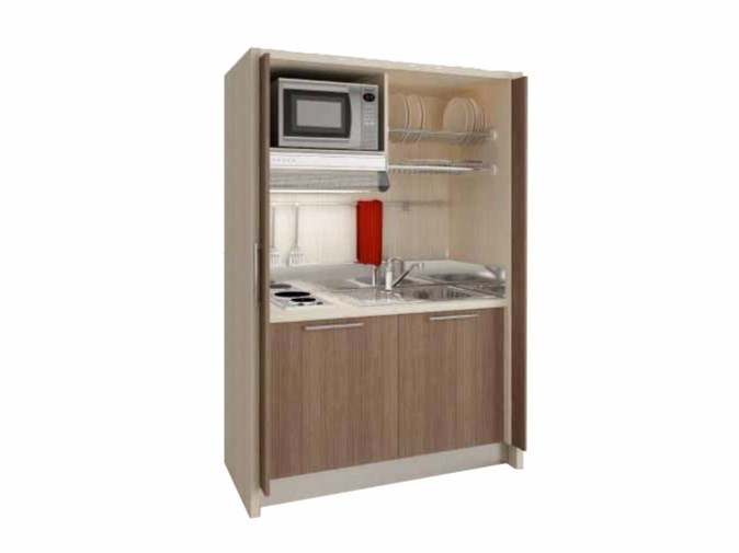 Mini kitchen with sliding doors ZEUS K122 - Mobilspazio