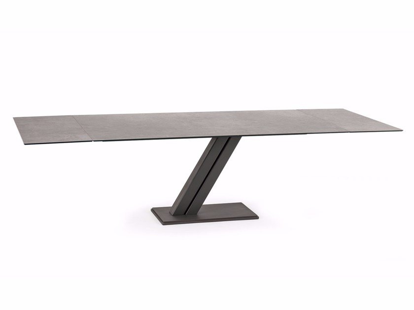 Extending rectangular ceramic table ZEUS KERAMIK DRIVE - Cattelan Italia