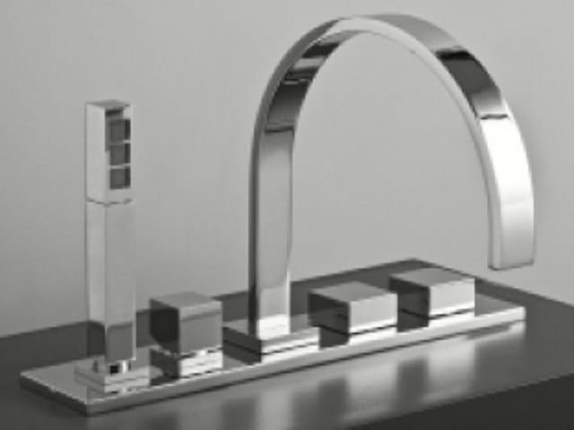 5 hole bathtub set ZEUS Q | Bathtub set - Signorini Rubinetterie