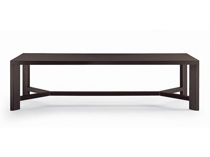 Rectangular wood veneer table ZEUS | Rectangular table - Poliform