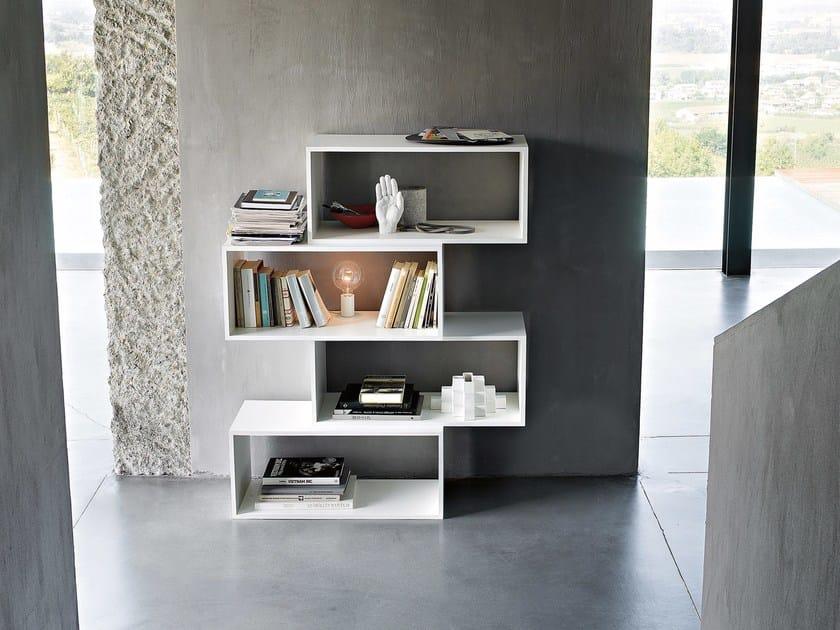 Open sectional bookcase ZIG ZAG - Lema