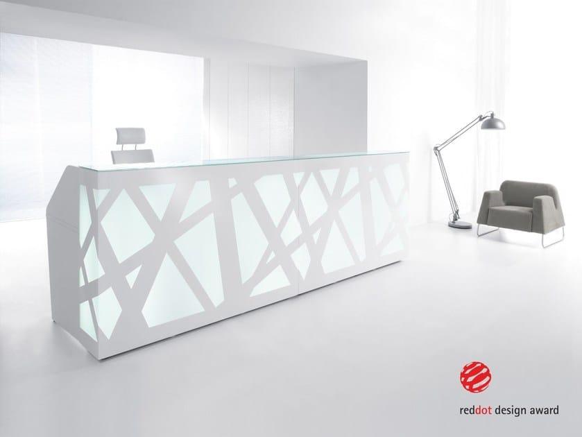 Modular Reception desk with Built-In Lights ZIG-ZAG - MDD