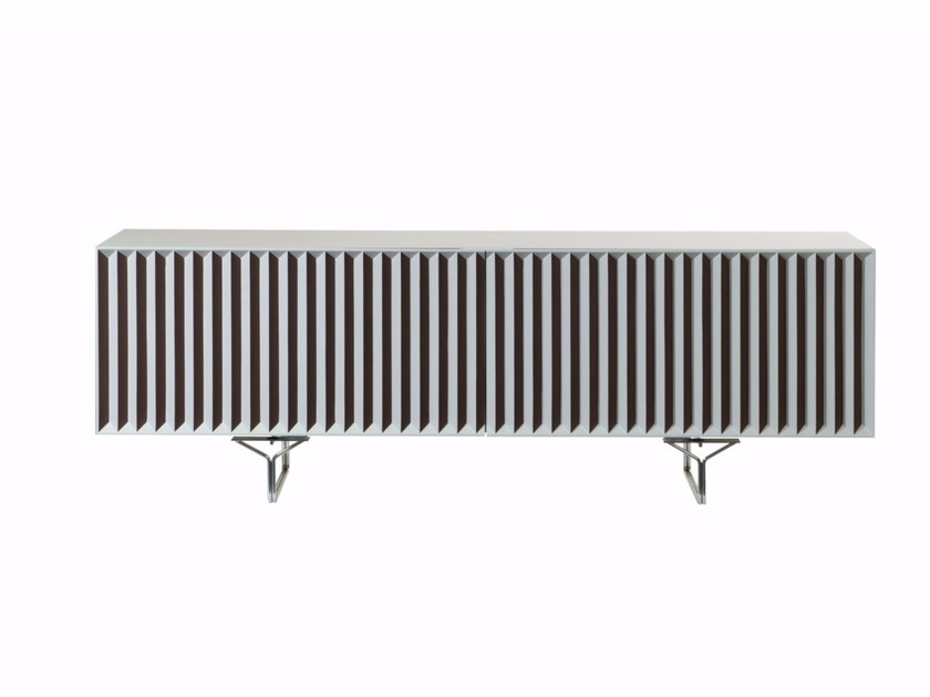Lacquered MDF sideboard with coplanar doors ZIG ZAG by ROCHE BOBOIS