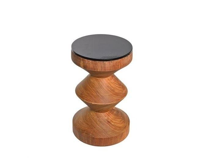 Sgabello in legno ZIGZAG BLACK TOP - Pols Potten